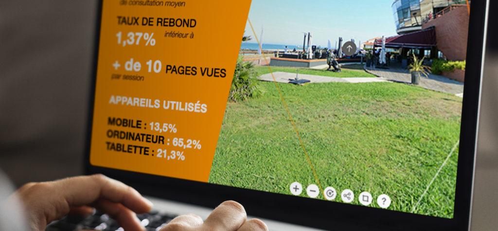 Performance et optimisation de votre salon virtuel à 360° grâce aux analytics